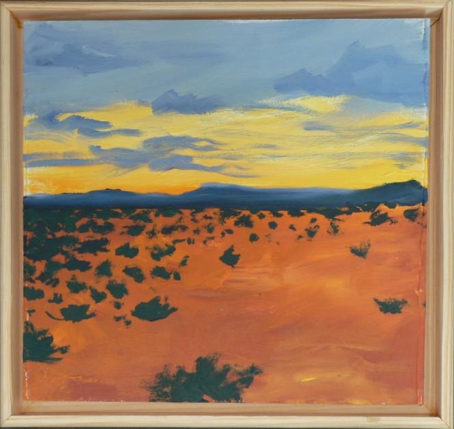 Desert 1 landscape, Oil Sketch 6x6