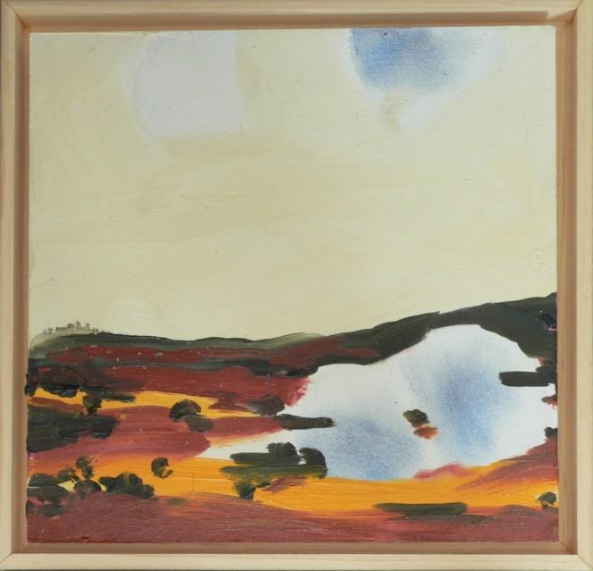 Desert 2 landscape Oil Sketch 6x6