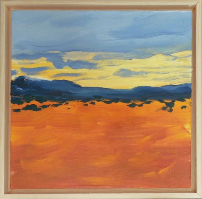 Desert Landscape Oil Sketch 6x6