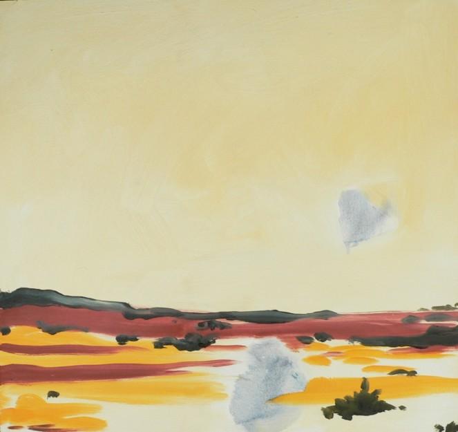 Desert Landscape Large Oil Sketch 10x10