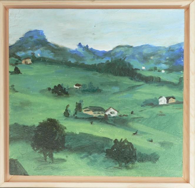 Landscape Mountians Oil Sketch 6x6