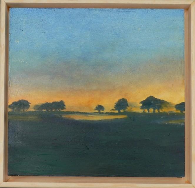 Morning Fog Landscape Oil Sketch 6x6