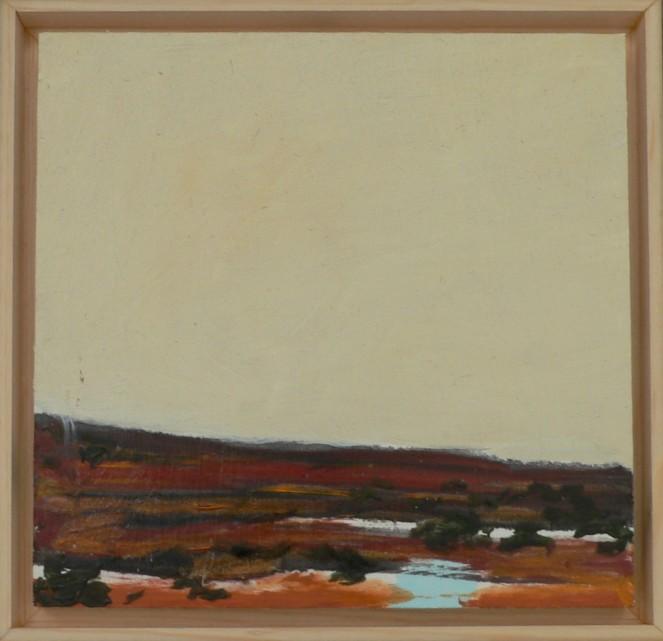 Original Desert Landscape Oil Sketch 6x6