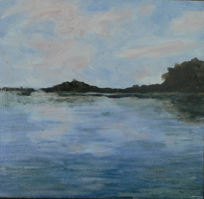 River Oil Sketch 6x6