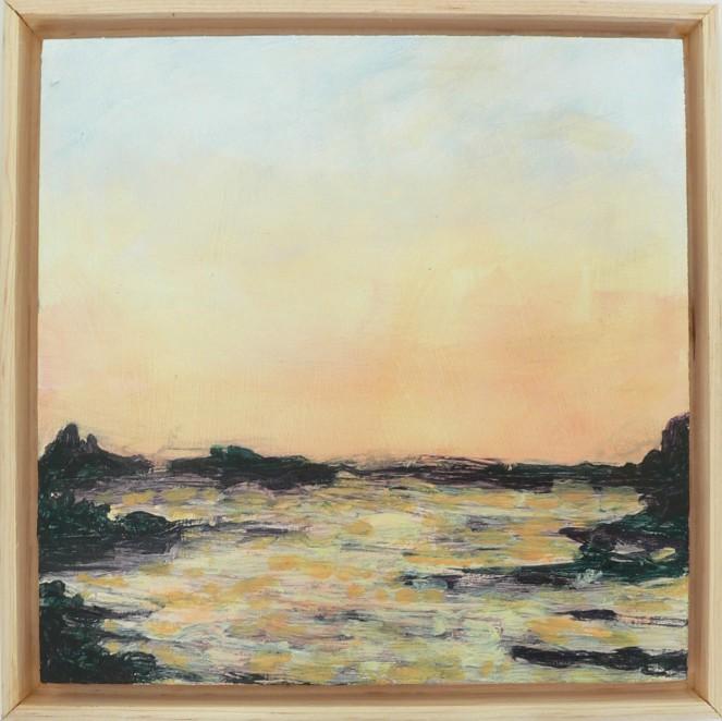 Sunset Ocean 6x6